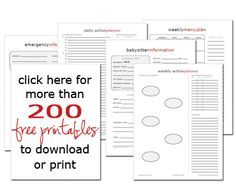 Want to get organized in 2012?  Lots of free printables to help you get it done.