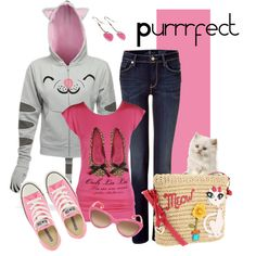 Purrrfect, created by charlotte-bilton-carver on Polyvore