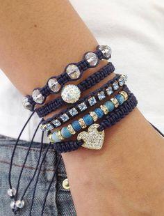 Bracelet Agatha Blue