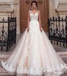 62d4cdf5d44 Wholesale Summer A Shape Of Words Shoulders Little Maxi Wedding Dress  Customized Large Size Lace Wedding