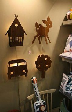 Can I replicate for the boys' playeoom? Wooden Projects, Wood Crafts, Diy And Crafts, Articles En Bois, Laser Cut Lamps, Kids Wood, Wooden Lamp, 3d Prints, Wood Toys