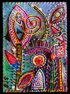 ♒ Enchanting Embroidery ♒ Susan Sorrell - doodles turned into beautiful embroiderd art