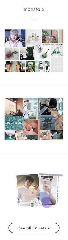 """monsta x"" by soft-bites ❤ liked on Polyvore featuring art, biasbattle, Sans Souci, Vans, Katie, kpop, korean, ShoutOut, monstax and BotBKGKRose"