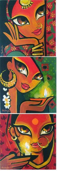 Niloufer Wadia - acrylics on canvas