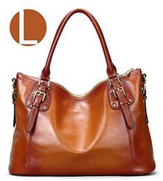 S-ZONE Women s Vintage Large Genuine Leather Tote Shoulder Bag Handbag -  http   43f9a1f9ab6e6