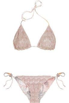 Missoni|Carnac reversible crochet-knit triangle bikini|NET-A-PORTER.COM - StyleSays