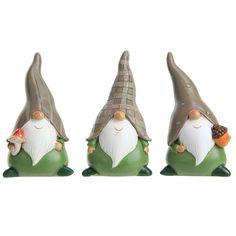 Green & Brown Garden Gnome Ornaments