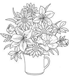 Flower Bouquet Coloring pages colouring adult detailed advanced printable Kleuren voor volwassenen coloriage pour adulte anti-stress kleurplaat voor volwassenen http://s39.photobucket.com/user/tharens/slideshow/coloring pages/?albumview=slideshow