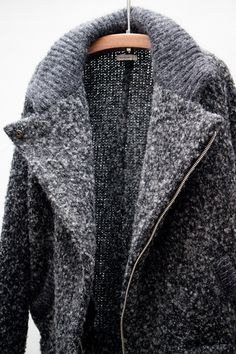 Isabel Marant heavy sweater coat. This looks like a sweater fit for a cold winter