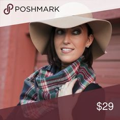 """Infinity Scarf Beautiful infinity scarf - pairs perfectly with the nightshade hat! Bundle both for extra savings!   Colors available: Navy plaid   Sizes: 25"""" x 66"""" Fabric: 100% acrylic - SO SOFT Condition: New with tags  Please ask all questions before purchase.  Bundle Discount: 10% on 2+ items.  Typically ships within 24 hours.   Follow along on Instagram, Snapchat, Twitter & Facebook: @flowersandgray  xo, Jess Accessories Scarves & Wraps"""