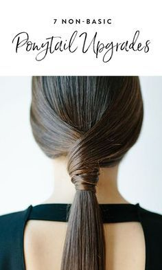 7 Jazzed-Up, Non-Basic Ponytails to Keep You Cool All Summer Long via @PureWow