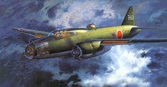 Mitsubishi G4M2 Type 1 Attack Bomber Model 22 'Betty' by Shigeo Koike