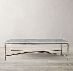 Thaddeus Forged Brass & Marble Square Coffee Table Thaddeus Forged Brass & Marble Square Couchtisch This image has get Stone Coffee Table, Marble Top Coffee Table, Brass Coffee Table, Diy Coffee Table, Decorating Coffee Tables, Coffee Table Design, Marble Tables, Coffee Table Restoration Hardware, Restoration Hardware Living Room