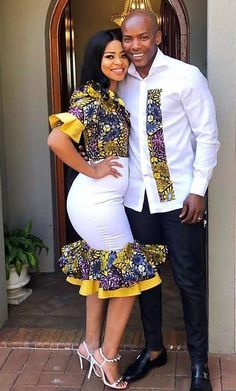 32 Chic Ways To Rock Ankara Fashion For Couples – Nigerian Wedding // Wedding inspiration website Couples African Outfits, African Dresses Men, African Clothing For Men, African Shirts, Latest African Fashion Dresses, Couple Outfits, African Attire, Ankara Fashion, African Wear