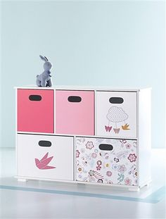 meuble de rangement 6 bacs super doudou blanc vertbaudet enfant d co chambre b b. Black Bedroom Furniture Sets. Home Design Ideas