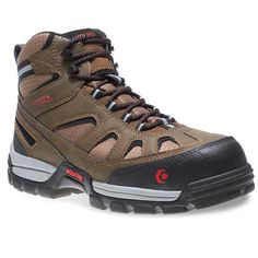 Wolverine Tarmac FX Men's Mid Waterproof Composite Safety Toe Work Boots, Size: 9.5 Xw, Brown