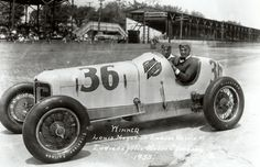 Louis Meyer - The Complete History of Indianapolis 500 Winners Sprint Car Racing, Auto Racing, Indy 500 Winner, Indianapolis Motor Speedway, Old Race Cars, Vintage Race Car, Cars And Coffee, Indy Cars, Grand Prix
