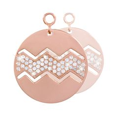Nikki Lissoni Sparkling Waves Earring Coins - EAC2038RGM http://www.oghamjewellery.com/collections/nikki-lissoni-jewellery