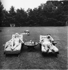 Diane Airbus A family on their lawn one Sunday in Westchester, N.Y., 1968