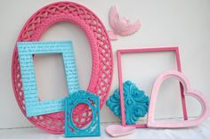 Shabby chic ornate frame collection and Homco by Lollipopfigurine