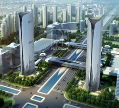 Goldin-Finanzzentrum Twin Towers, Tianjin - Dress Models - Welcome to our website, We hope you are satisfied with the content we offer. Futuristic City, Futuristic Architecture, Concept Architecture, Sustainable Architecture, City Architecture, Beautiful Architecture, Landscape Architecture, Amazing Buildings, Modern Buildings