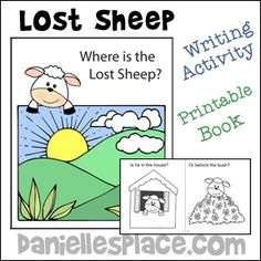 Bible Crafts and Activities for Sunday School The Parable of the Lost Sheep and The Good Shepherd Sunday School Crafts For Kids, Sunday School Lessons, Writing Activities, Activities For Kids, Bible Parables, The Lost Sheep, Sheep Crafts, Preschool Bible, Bible Lessons For Kids