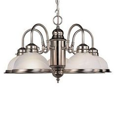 Livex Lighting�5-Light Home Basics Brushed Nickel Chandelier