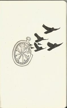 compass and bird tattoo - Google Search