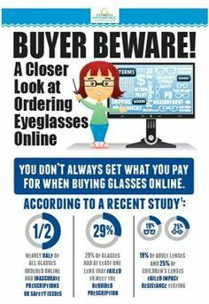 Online glasses infographic