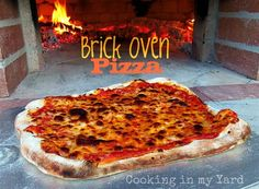Brick Oven Pizza...The perfect summer pizza, made in a brick oven, but you could totally do it on the grill!