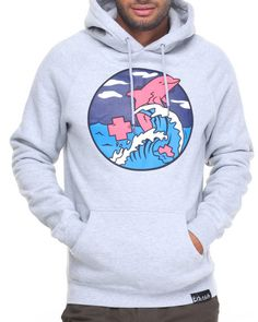 Find SPLASH WAVE PULLOVER HOODIE Men's Hoodies from Pink Dolphin & more at DrJays. on Drjays.com