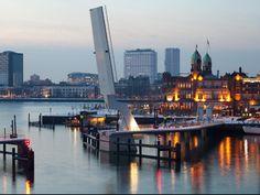 Rijnhavenbrug - Bridge between Hotel New York and Katendrecht (Rotterdam, the Netherlands)