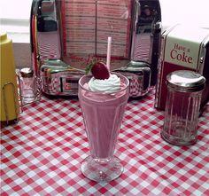 Fake Strawberry Milkshake Faux Food Display by designsandimages, $20.25