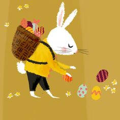 Easter Bunny #easter #bunny #illustration #art #happyeaster #easterbunny #eastereggs