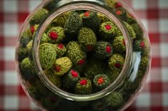 ...a gallon jar of knitted stuffed olives...brilliant....
