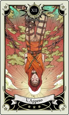 Tarot card 12- The hanged man by *rann-rann on deviantART