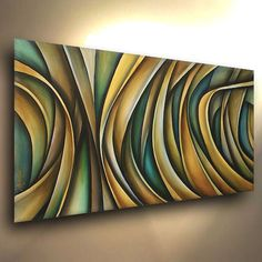"""Abstract Painting 48"""" Modern Art Contemporary DECOR Mix Lang Certified Original #Abstract"""