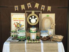 Amazing dessert table at a Wild Kratts birthday party! See more party ideas at CatchMyParty.com!