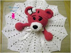 No 133# Kocyk z misiem dla dziecka na szydełku - Crochet lovely baby blanket with bear- PART 1-2 - YouTube