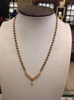 black beads or nallapusalu Jewelry Design Earrings, Gold Earrings Designs, Necklace Designs, Beaded Jewelry, Gold Designs, Bead Jewellery, Temple Jewellery, Bridal Jewellery, Pearl Jewelry