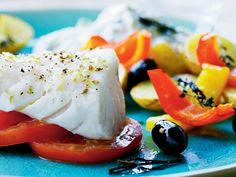 2gangeomugen: Bagt kulmule med græske kartofler