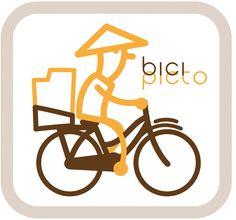 pictograma bicicleta chino