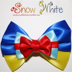 Snow White Hair Bow ($8) ❤ liked on Polyvore