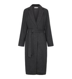 Charcoal Classic Wool Belted Midi Coat - £64.90 : Inayah, Islamic Clothing & Fashion, Abayas, Jilbabs, Hijabs, Jalabiyas & Hijab Pins