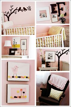 Cute baby room!  I could see my daughter having this room for her baby!  she  loves birds!