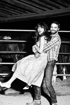 Jake Johnson & Zooey Deschanel... my guy and girl crush right now