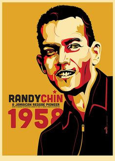 """Vincent """"Randy"""" Chin founder of VP records. Design and no illustrated by Freestylee! Michael Thompson."""