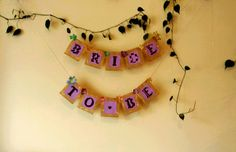 Burlap Bride to Be Bridal Shower Banner / by BootsAndDirtRoads Burlap Bridal Showers, Bridal Shower Rustic, Easter Wreaths, Rosettes, Burlap Wreath, Twine, White Lace, Engagement, Unique Jewelry