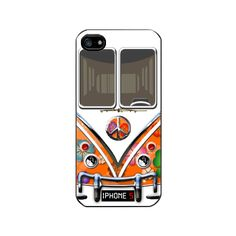 iPhone 5 Case, iPhone 5 Hard Cover, Hippie VW Camper Van. $16.00, via Etsy.