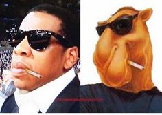 Jay-Z has a Joe Camel like face, he is no Denzel Washington in the looks department. Description from s1.zetaboards.com. I searched for this on bing.com/images